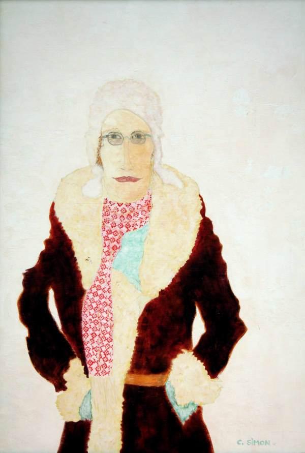 """""""Der Abenteurer"""" 2005 Eitempera. Öl auf Schablonenpapier, 70x100 cm —sold—"""