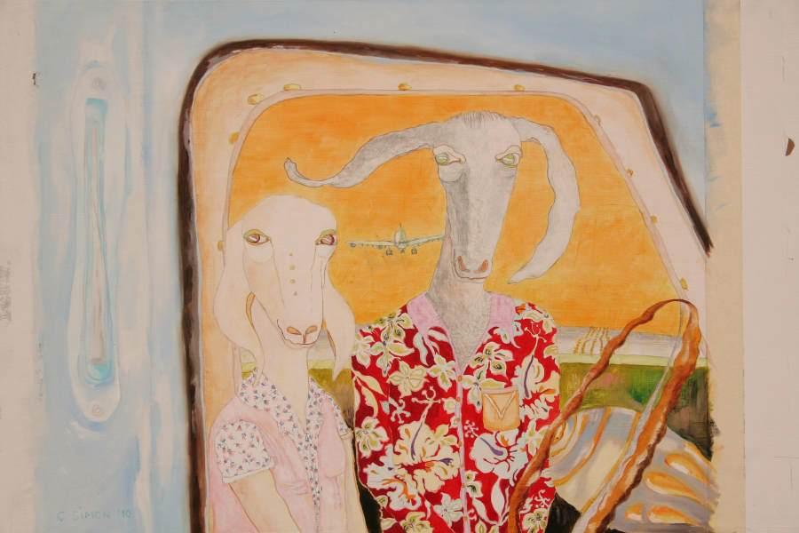 """""""On the road"""" 2010 Eitempera, Öl auf Holz, 50x71,5 cm —sold—"""