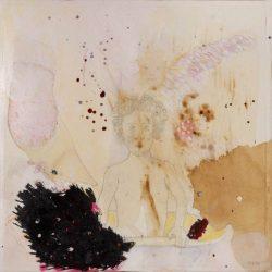 """""""Wannekind II"""" 2013 Kaffee, Graphit, Tusche auf Papier, 20x20 cm"""