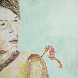 """""""Der Kuss"""" 2012 Eitempera, Öl auf Holz, 59,5x84 cm —sold—"""