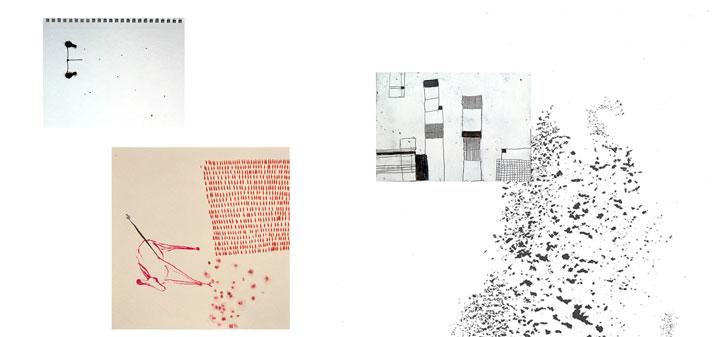 """Titelbild """"Arbeiten auf Papier"""""""